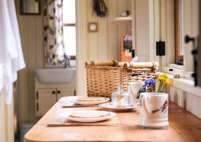 Morndyke Shepherds Huts Basket on Table