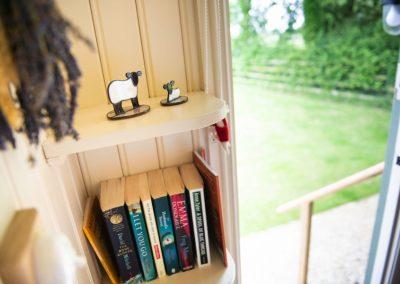 Morndyke Shepherds Huts Book Shelf