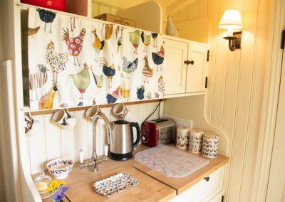 Morndyke Shepherds Huts Kitchen